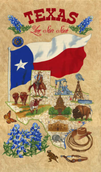 Texas Lone Star State by Sarah Khammash for Moda Fabrics