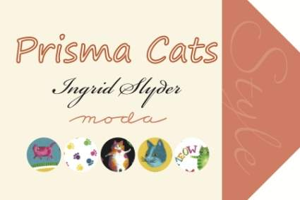 Prisma Cats by Ingrid Slyder for Moda Fabrics